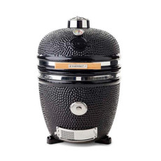 Yakiniku 19 inch Large Dimple Ceramic Grill Black
